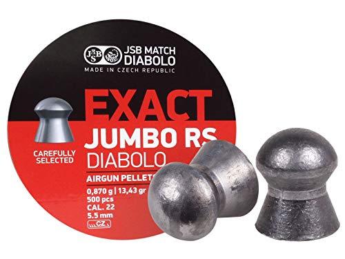 JSB 546207-500 Jumbo Exact RS Air Gun Pellets 22 Cal 1343 Grains 500ct