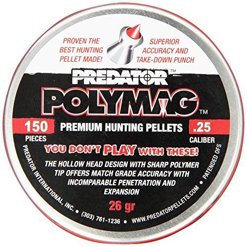 Polymag Predator Polymag Air Gun Pellets Grayred 25 Caliber