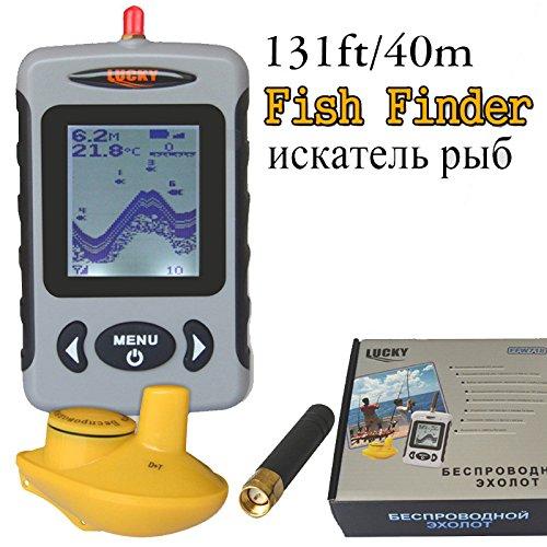 Lucky FFW718 Depth Sonar Fish Finder Wireless Sounder for Fishing Sonar Alarm Fishfinder 100M Depth River Transducer Sensor B5