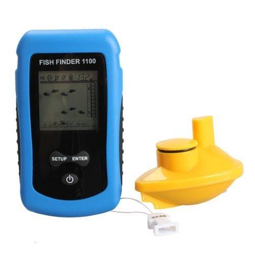 Vktech Wireless Sonar Fish Finder 125KHz 90°Beam Angle Fishing Alarm Waterproof