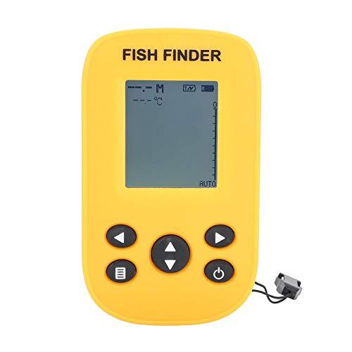 ZJchao Wireless Portable Fish FinderWireless Fish Finder Sonar Sensor Portable Sonar Fishfinder LCD Display Depth Finders Depth Locator for Fishing Ice Fishing Kayak Fishing