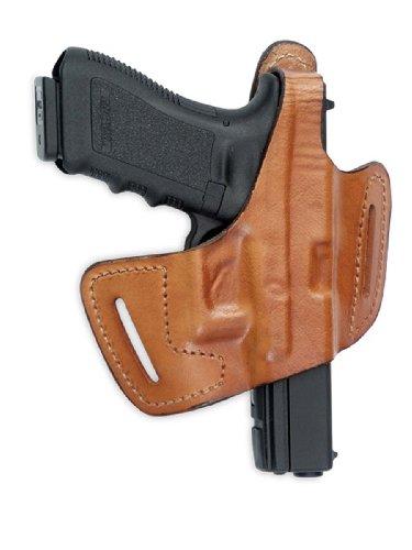 Fast-Draw Belt-Slide Leather Holster Brown Left Hand 5-Inch Colt Gov