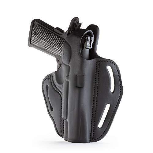1791 GUNLEATHER 1911 Holster - Thumb Break Leather Holster - Cocked and Locked Carry - Right Hand OWB Holster for Belts - Fit 4 and 5 Barrels