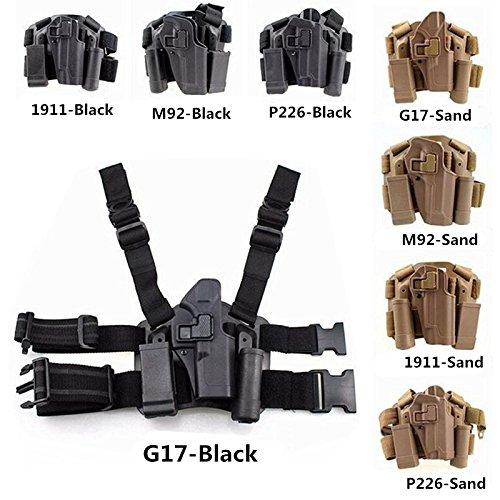 FIRECLUB Tactical Right Hand Paddle Leg Belt Drop Leg Holster for M1911M92P226G17