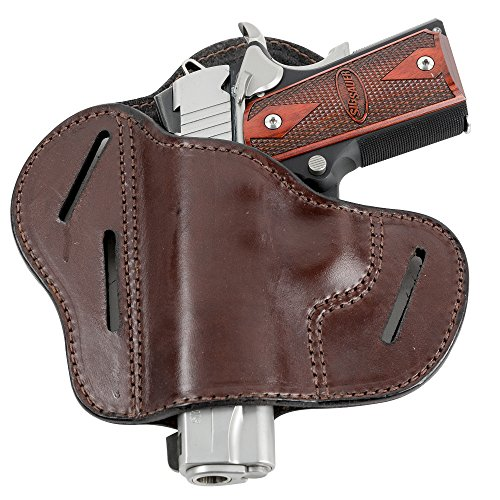 Relentless Tactical - The Ultimate Leather Gun Holster  3 Slot Pancake Style Belt Holster  Handmade in The USA  Fits All 1911 Style Handguns