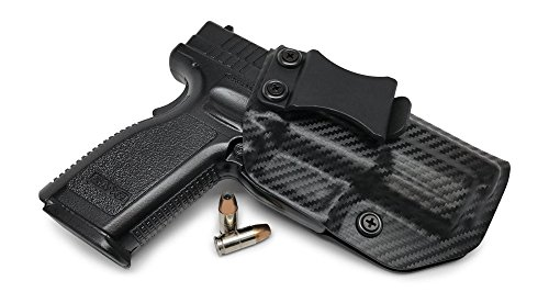 Concealment Express IWB KYDEX Holster fits Springfield XD 40 - Custom Molded Fit - US Made - Inside Waistband Concealed Carry - Adj Cant Retention Carbon Black Right