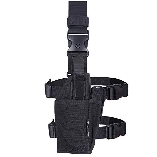 MGFLASHFORCE Drop Leg Holster Adjustable Molle Tactical Thigh Pistol Gun Holster Right Handed
