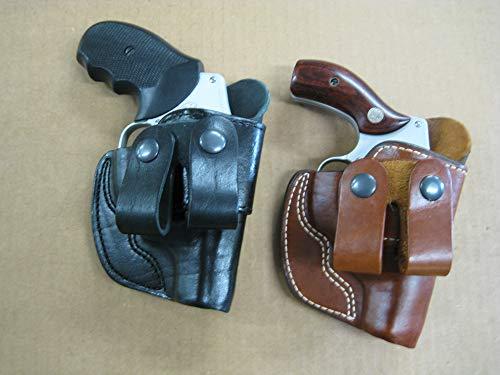 Azula Dual Belt Loop IWB Molded Leather Concealed Carry Holster for Kimber K6s 2 Inch Barrel Revolver - Black RH