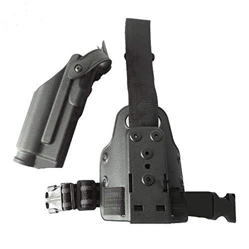 Adjustable Tactical Leg Holster Quick Release Drop Light Bearing M6 TLR-2 Right Leg Thigh Gun Holster for Glock 17 18 19 22 23 26