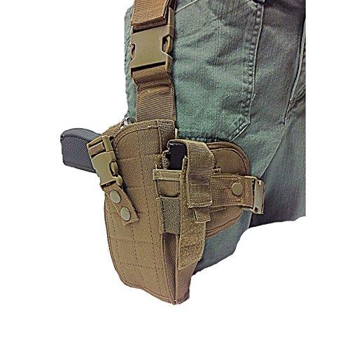 Coyote Tan Tactical Leg Holster fits Beretta 929640 S&W U22 Neos 22LR