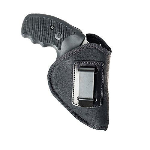 Cardini Leather USA Nylon Inside The Waistband HolsterInside Pants Holster S&W J Frame 2-18 Black Right Handed