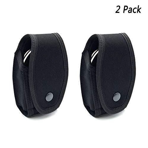 JSVDE Tactical Handcuff Case Cuff Case Single Hidden Snap Handcuff Holder Pouch Nylon Holster