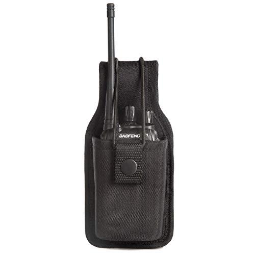 Universal Radio Case Two Way Radio Holder Universal Pouch for Walkie Talkies Nylon Holster for Motorola Kenwood Icom HYT Arcshell baofeng UV5R UV82 888S F8HP Retevis H777 1 Pack