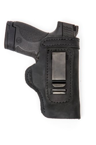 Glock 19 23 32 36 Pro Carry LT CCW IWB Leather Gun Holster New Black