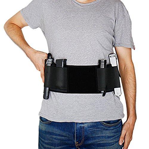 Gun Holster Belly Band Holster for Concealed Carry Neoprene Waist Band Handgun Carrying System Elastic Hand Gun Holder for Pistols Revolvers for Men and Women