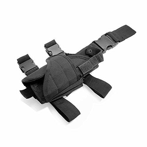 Cisno Gun Holster Right Leg Adjustable Tactical Thigh Pistol Holster black