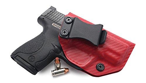 Concealment Express Carbon Fiber EMT Red KYDEX IWB Gun Holster - Custom Molded Fit - US Made - Inside Waistband Concealed Carry Holster - Adj Cant Retention