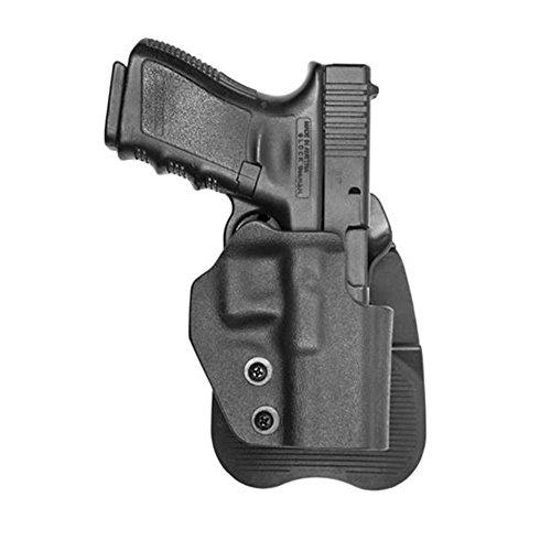 Open Top Molded Polymer Paddle Black Gun Holster