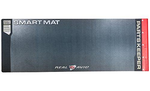 "Real Avid Universal Smart Mat - 43x16"" Long Gun Cleaning Mat Red Parts Tray"