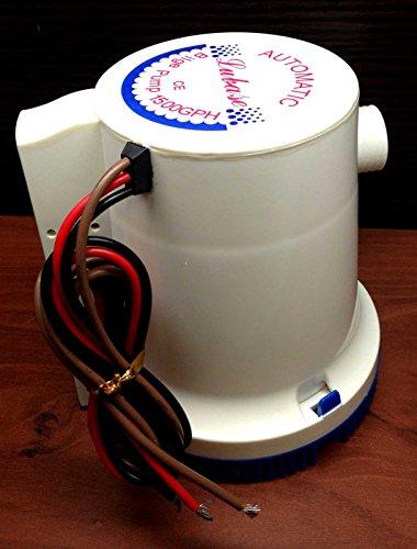 Marine Boat 1500 GPH ABS Automatic Bilge Pump 12V Straight Hose Adaptor 1 18