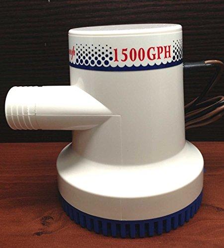 Marine Boat 1500 GPH ABS Manual Bilge Pump 12V Straight hose Adaptor 1 18