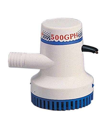 Marine Boat 500 GPH ABS Manual Bilge Pump 12V Straight hose Adaptor 34 Hose