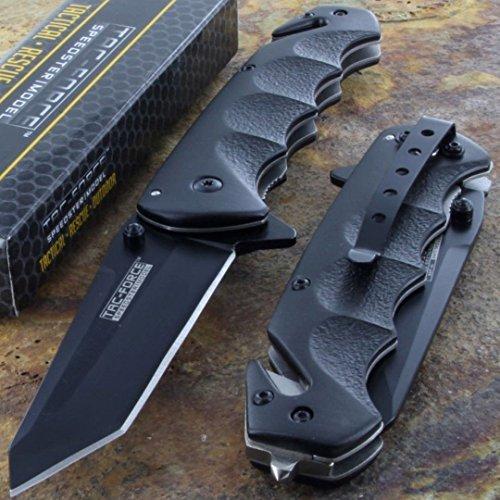 Tac-Force Black TANTO BLADE Spring Assisted Tactical Folding Pocket Knife New