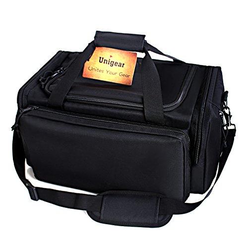 Unigear 1000D Tactical Shooting Gun Range Bags Dimensions 18x 14 x 10 for handguns BLACK