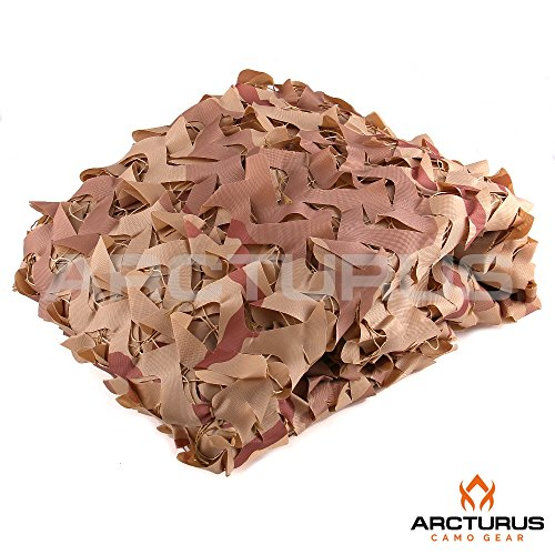 Arcturus Camo 10 X 20 - 300D Heavy Duty Desert Camo Netting with Mesh Support Grid