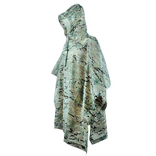LOOGU Military Camouflage Waterproof Rain Poncho for AdultsCP