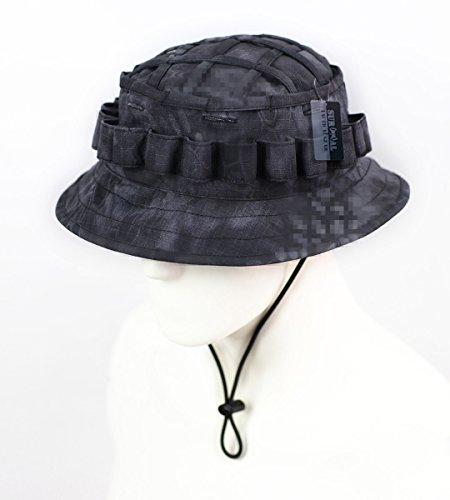ZAPT Boonie Hat Military Camo Cap Hunter Sniper Ghillie Bucket Hats Adjustable Jungle Bush Hat Kryptek Typhon