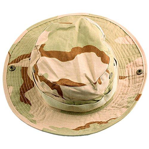 squaregarden Military Camo Adjustable Boonie Hat Hunting Bucket Hats  Desert Camo