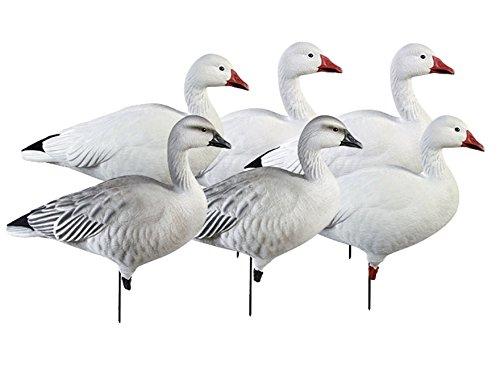 GHG Pro-Grade Active Pack Full Body Snow Goose Decoy Pack of 6