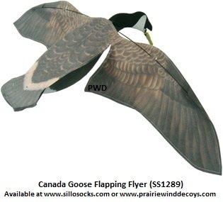 Sillosocks Flapping Canada Snow Goose Decoy Grey