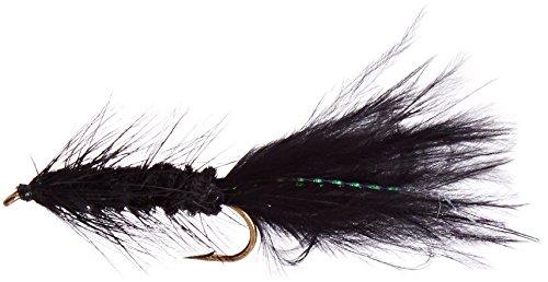 Flies Direct Wooly Bugger Black Assortment 1 Dozen Trout Fishing Flies