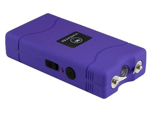 VIPERTEK VTS-880 - 400000000 Mini Stun Gun - Rechargeable with LED Flashlight Purple