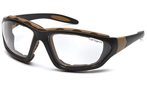 Carhartt Carthage Safety Eyewear with Vented Foam Carriage Clear Anti-fog Lens