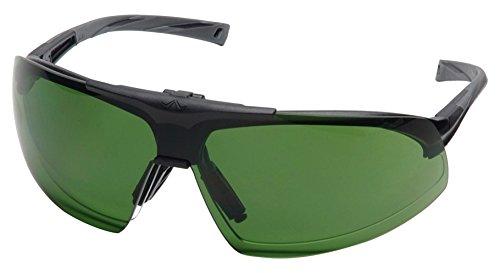 Pyramex Onix Plus Safety Eyewear Clear Anti-Fog Lens 30 Ir Filter Flip Lens With Black Frame
