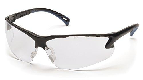 Pyramex Venture 3 Safety Eyewear Clear Anti-Fog Lens With Black Frame