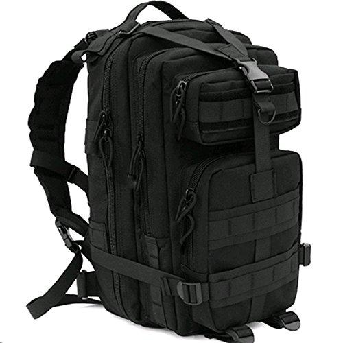 CVLIFE Outdoor Tactical Backpack Military Rucksacks for Camping Hiking and Trekking Waterproof 30L Black