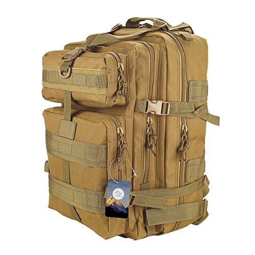 TTLIFE Military Tactical backpack Fashionable 45L Hiking Mountaineering Biking Outdoor Military Tactical Rucksack Trekking Bag for Traveling Hiking Kaki