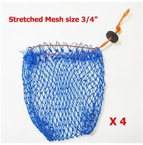 KUFA Sports Crab Bait Bag 4pcs combo 380D15stretched mesh size 1 BAG-1x4