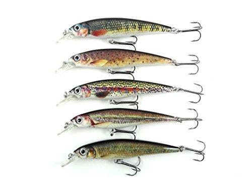 Bass Fishing Lures Set JerkbaitCrankbait Sardine Swimbait Kit 5 Pack