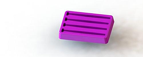 Fusion X - 4 SX Shad Swim Bait Soft Plastic Fishing Lure Making Hand Pour Silicone Mold 4 Cavity FusionX 3040MC