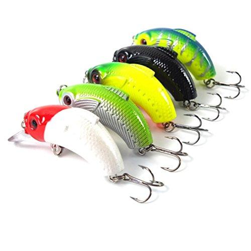 5pcslot 5cm 75g Crankbait Minnow Hooks Crank Baits Cheap Fishing Lures Set