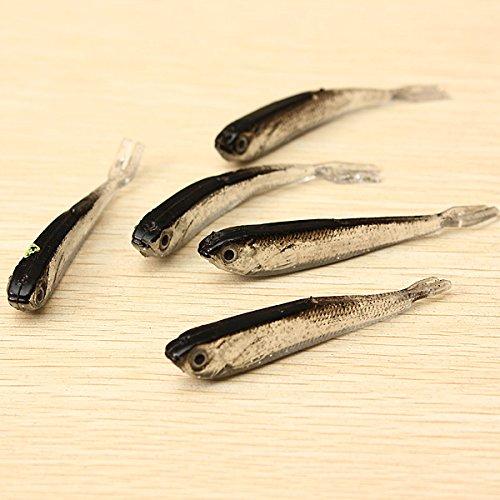 1Set 10PCS Soft Silicone Fishing Lure Bait Freshwater Saltwater