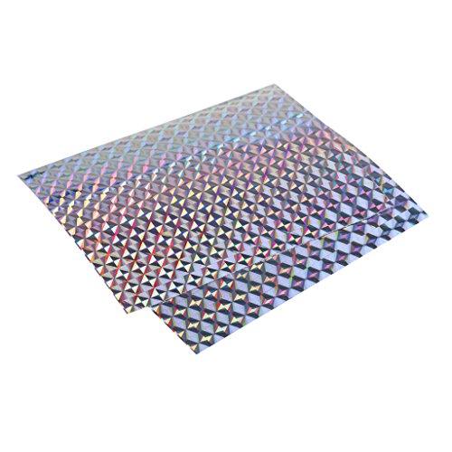 MonkeyJack 2Pcs Holographic Fishing Lure Tape Adhesive Prism Tape Scales Lure DIY 10x74cm - 01