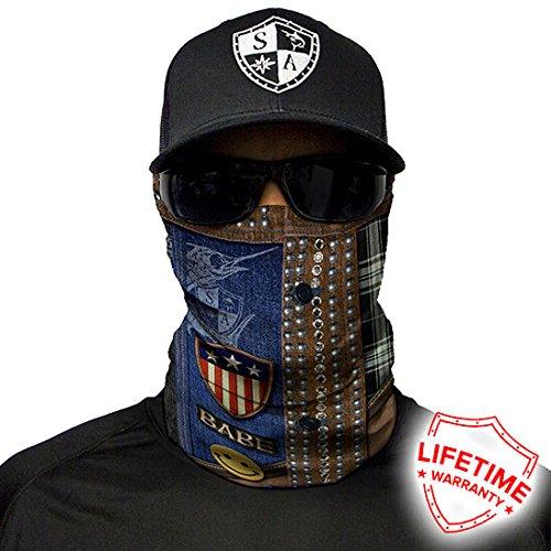 Salt Armour Shield Denim Face Shield Mask tubular bandanas Hunting Fishing Outdoor