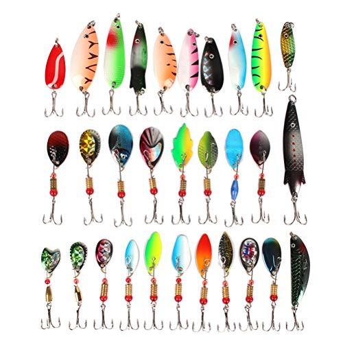 LIOOBO 30PCS Fishing Lure Kits Mixed Universal Assorted Fishing Lure Set