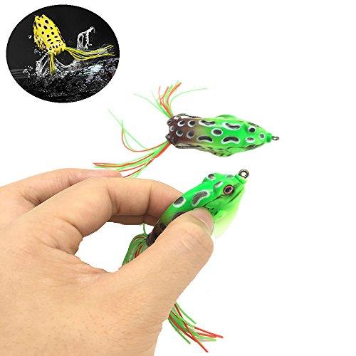 HUELE fishing Lure frog set for Bass SnakeheadFreshwater Saltwater Soft Bait 2pcs55CM 8G